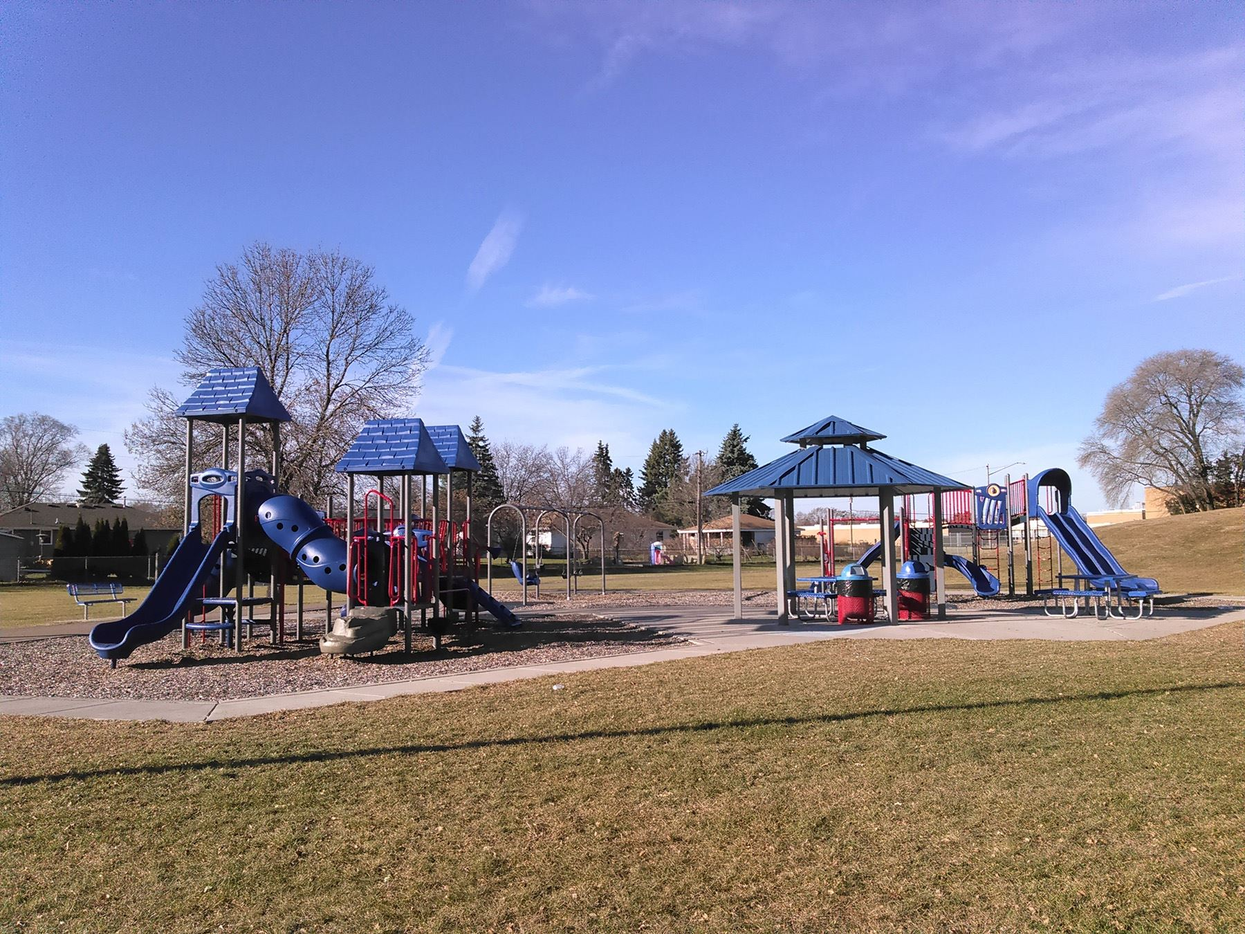 Playground structure at Peppermint Stick Park