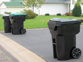 Curbside recycling bins