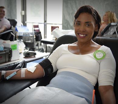 Photo of woman donating blood