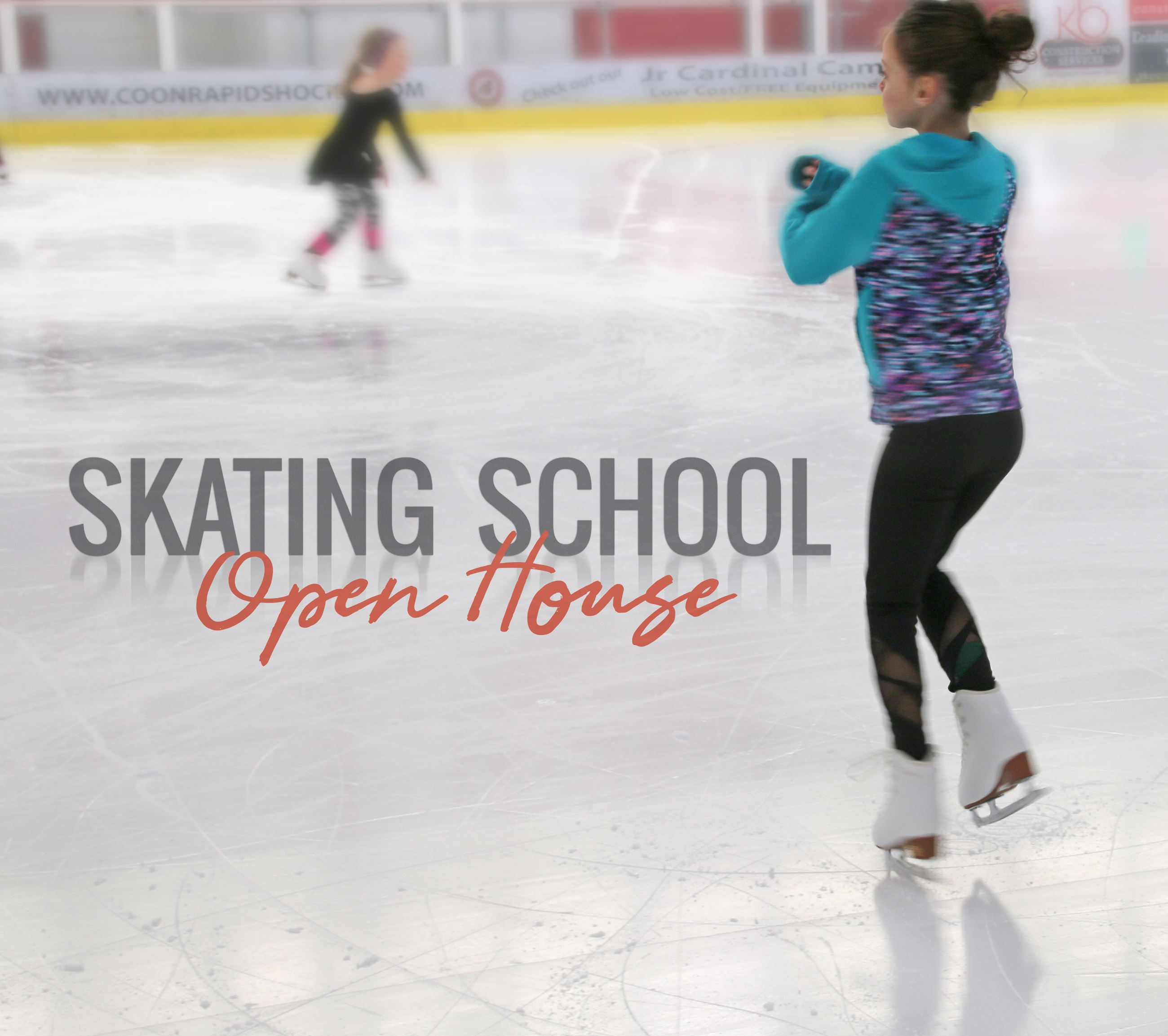 Figure skaters practicing ice skating