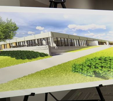 Rendering of proposed new building