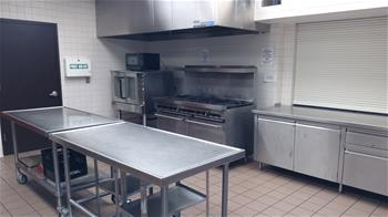 Ten burner gas range and convection oven